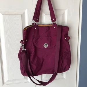 Bagallini burgundy travel bag!